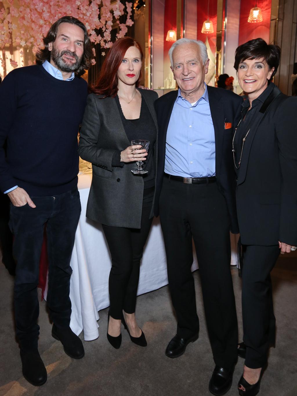 Fr+®d+®ric Beigbeder, Audrey Fleurot, Philippe Labro et Daniela Riccardi -®Fran+ºois Goiz+®